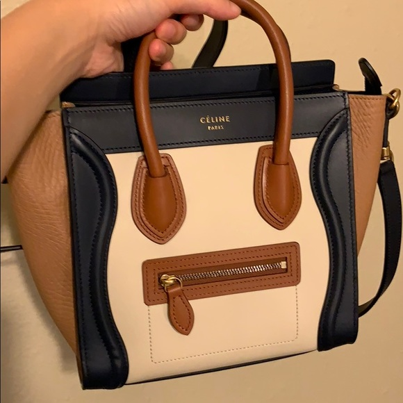 a7bdbbd4a35 Celine Bags   Hold Nano Luggage Tricolor 100 Auth   Poshmark
